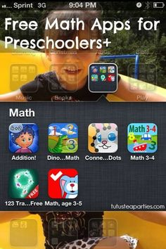Tutus and Tea Parties: Free Math Apps for Preschoolers