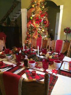 Christmas tablesetting!