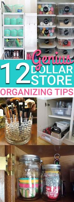 diy organization The BEST ways to organize your home with items from the dollar store. If you want to save money on organizing your home, then you need to try the dollar store organizing ideas! Astuces Dollar Store, Dollar Store Hacks, Dollar Store Crafts, Dollar Stores, Dollar Dollar, Dollar Items, Dollar Store Decorating, Organisation Hacks, Organizing Hacks