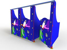 Space themed toilet cubicles for schools and nurseries