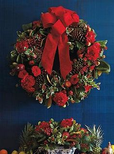 Boasting an abundant and beautiful mixture of natural elements, the Williamsburg Pine and Camellia Wreath will help you spread holiday cheer to every part of your home this Christmas.