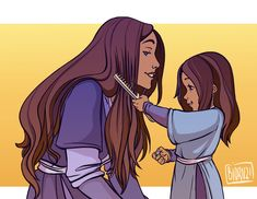 The Legend of Korrasami — Little Katara with her mom and their. Avatar Airbender, Avatar Aang, Zuko And Katara, Team Avatar, Ang And Katara, Avatar Fan Art, Mejores Series Tv, Avatar Series, Iroh