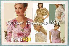 Crochet Patterns. E-book. Instant Download PDF.  Dress,Skirt, Top, Jacket, Irish Lace Summer Issue Journal Mod #507