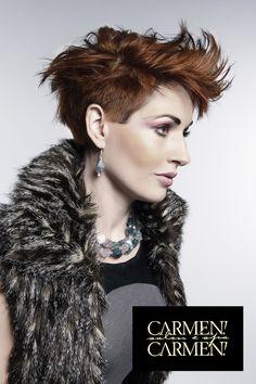 Carmen Carmen Salon, Hair, Hair Color, Hair Style, Beautiful, short hair, edgy hair