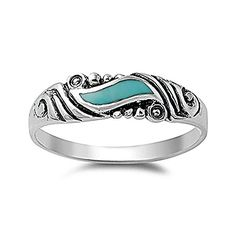 Sterling Silver Wedding Ring Turquoise Vintage Style Wedding Band 5MM ( Size 4 to 10) - 7 Double Accent http://www.amazon.com/dp/B00W6E04FE/ref=cm_sw_r_pi_dp_18CPvb10B4FV8