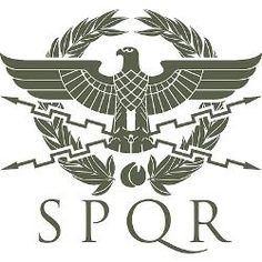 """SPQR is an acronym from a Latin phrase, Senātus Populusque Rōmānus (""""The Senate and People of Rome""""). The Roman Eagle was the national animal, and graced the standard of each legion. A standard-bearer would carry the eagle with them, and it the standard fell or was lost, it had to be retrieved at all costs. (cafepress, 2014)"""
