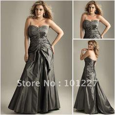 LD2229  Sweetheart neckline Formal Beaded Taffeta Plus Size Prom Dress on AliExpress.com. $136.32
