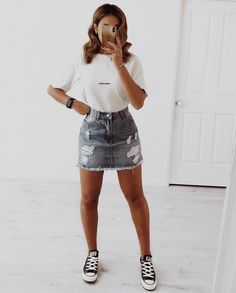 trendy outfits for summer & trendy outfits ; trendy outfits for school ; trendy outfits for summer ; trendy outfits for women ; Cute Summer Outfits, Casual Summer Outfits, Trendy Outfits, Cool Outfits, Spring Outfits, Tumblr Summer Outfits, Classy Outfits, Cute Outfit Ideas For School, Cute Outfits With Skirts