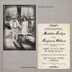 Vintage Wedding Invitation -