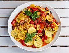 Sweet tomatoes are classically paired with fresh basil to show off the best of summer's harvest. Zucchini, bell peppers and white mushrooms are sautéed simply with onions and garlic in this garden-in-a-pan supper. This recipe comes to us from Andrea ofAndrea's Recipesand the great folks at The Kids Cook Monday. This recipe is suitable for [...]