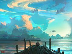 Sky for Dreamers  by RHADS   #DigitalArt #DrawingsPaintings #Surreal