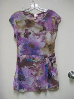 Anthropologie Sweet Pea spring boutique purple watercolor bloom