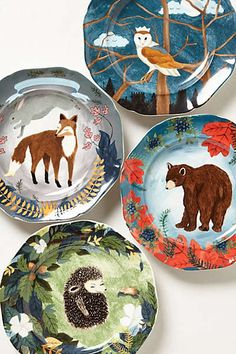 Anthropologie - Hidden Hollow Dessert Plate