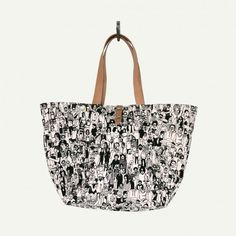 Farm Tote by Makr-Limited-edition tote bag made of natural heavy canvas with screened artwork by Geoff Mcfetridge. In collaboration with Pottok.