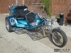 three seat harley trike   1996 Rewaco HS1 Family 3 seater Motorcycle Trike photo