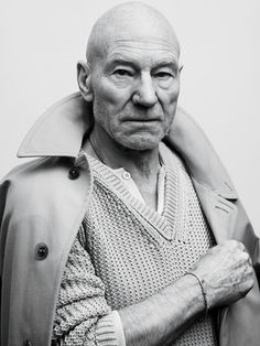 Patrick Stewart photographed by Sebastian Kim for GQ.