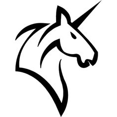 Unicorn head horse with a horn Free Icon