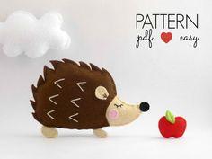 Hedgehog Pattern  Felt Sewing Pattern  Hedgehog by MaisieMooNZ