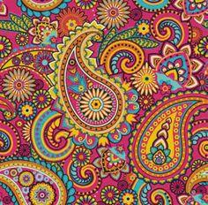 Pink Paisley Cross Stitch Pattern