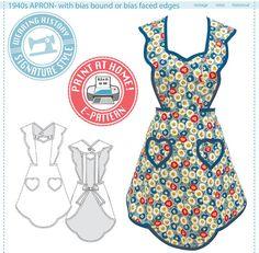 E-Pattern 1940s Apron Wearing History PDF door WearingHistory