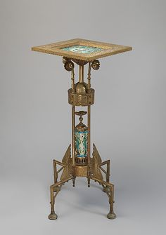 1880-1885 American Card stand at the Metropolitan Museum of Art, New York