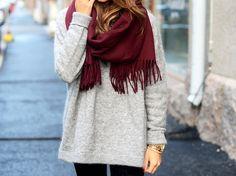 Acne Canada scarf in burgundy <3 (great finnish blogger mariannan!)