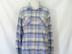 90's  Flannel Shirt LL Bean Flannel Shirt by ChinaCatVintage