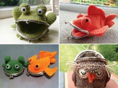 We were more than smitten when we found these adorable Crochet Coin Purses and they come in so many styles! We've included some gorgeous animal versions below including Owl, Frog, Goldfish, Tortoise w