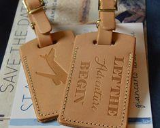 250 Custom Wedding Escort Favor Leather Luggage by PorterLeather ...