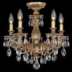 "Schonbek Milano Collection 16 1/2"" Crystal Ceiling Light"