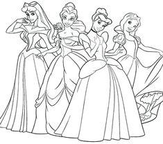 29 Best Princess Disney Coloring Images