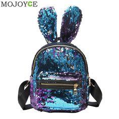 Cheap Backpacks, Buy Directly from China Suppliers:Mini Sequins Backpack Cute Rabbit Ears Shoulder Bag For Women Girls Travel Bag Bling Shiny Backpack Mochila Feminina Escolar New Backpacks, backpacks for teens, backpacks for women, backpacks for college, backpacks travel, backpacks & duffles, backpacks and bags #backpacking #backpacks #backpack #womenbackpack