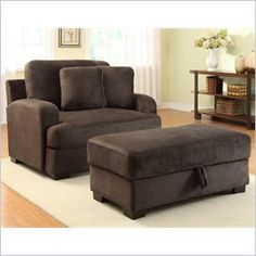 homelegance craine oversized chair and ottoman set in