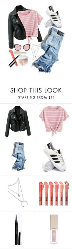 """""""casual monday RTD"""" by itsbree013 ❤ liked on Polyvore featuring R13, adidas, Stila and Stephane + Christian"""