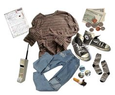 """""""Untitled #38"""" by itskoda ❤ liked on Polyvore featuring Converse and Madewell"""