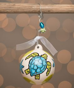Look at this #zulilyfind! Sea Turtle Ball Ornament #zulilyfinds
