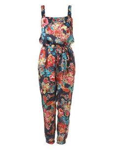 Topshop butterfly floral jumpsuit