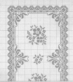 Heklanje Za Tebe I Mene 1638 – Heklanje Crochet Tablecloth Pattern, Free Crochet Doily Patterns, Crochet Doily Diagram, Filet Crochet Charts, Crochet Cross, Crochet Doilies, Cross Stitch Borders, Cross Stitch Patterns, Cross Stitch Embroidery