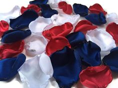 Mixture of Red White and Blue flower petals, red white and blue rose petals, flower girl petals, baby shower decor, bridal shower decor