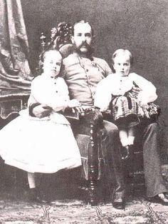 Franz Josef with Gisela and Rudolf