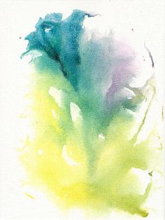 'Morning Glory Abstract' By Frank Bright Watercolor Print