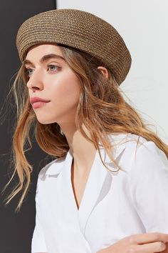 Brixton Audrey Straw Beret | Urban Outfitters