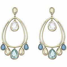 http://wondershop.net/tooluxe-swarovski-azore-drop-boucles-doreilles.html · Swarovski Azore Drop Boucles d'Oreilles·Adoptez deux des tendances les plus incontournables du moment – le XXL et le bleu – avec cette paire de boucles d'oreilles en métal doré. Elles sont ornées de cristaux en forme de poire suspendus. Idéal pour les nuits d'été chic !. Size :7 Prix EUR : 99.00 €