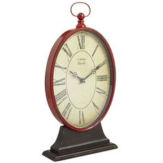 Red & Black Oval Table Clock   Pier 1 Imports