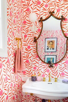 Pink Wallpaper Pattern, Home Design, Beautiful Bathrooms, Dream Bathrooms, White Bathrooms, Luxury Bathrooms, Master Bathrooms, Contemporary Bathrooms, Modern Contemporary