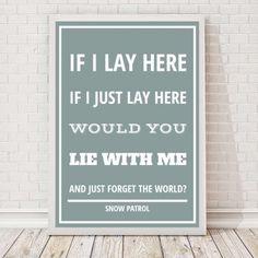 Songteksten - personaliseerbare poster