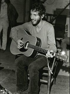 Bruce Springsteen in his early years.