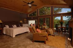 """For the perfect adult weekend, go #cabining on Beaver Lake. Yeah, we made """"cabining"""" a verb. #VisitArkansas"""