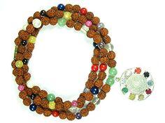 Rudraksha Prayer Mala Navaratan Nine Stone Healing Jewelry 108+1 Beads with Pendant Mogul Interior http://www.amazon.com/dp/B00QTACZ0S/ref=cm_sw_r_pi_dp_BQcIub177D2FR