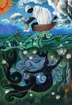 """Bridging The Worlds,"" Cultural Immersion: An Appreciation of Yoruba & Santeria Black Goddess, Goddess Art, Yemaya Orisha, Orishas Yoruba, 4 Image, African Mythology, Yoruba Religion, Afro Art, African American Art"